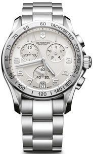 Swiss Army Chrono Classic Silver Dial Stainless Steel Mens Watch 241499 BY Swiss Army