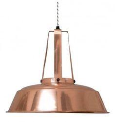 Lámpara estilo industrial cobre