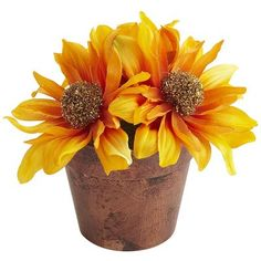 Mini Beaded Sunflower Arrangement-comes in 2 colors, much cuter than the pic great in my office for fall