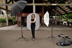 Setup for business professional head shot - also used Canon Speelite