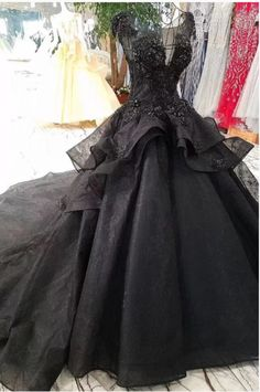 Buy Princess Black Ball Gown Beaded Prom Dresses Tulle Long Quinceanera Dresses on sale.Shop prom or formal dresses from Promdress. Find all of the latest styles and brands in Junior's prom and formal dresses at Black Wedding Dresses, Cheap Wedding Dress, Bridal Dresses, Gown Wedding, Wedding Black, Wedding Corset, Black Weddings, Wedding Nail, Bridal Gown