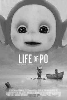 Lol black and white life  of pi po teletubies