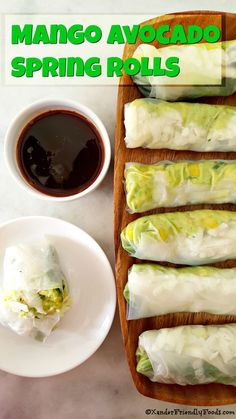 Sweet mango & mashed avocado is heavenly, especially with the added crunch of jicama in these delightful spring rolls.