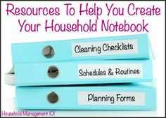 Household Notebook: Use It To Organize Your Home Life