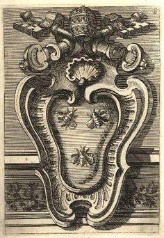The coat of arms of Pope Urban VIII in Palazzo Barberini