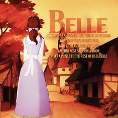If I had to live the rest of my life as a Disney princess, hands down I'd rather be Belle. Here are 13 reasons why I'd rather be Belle than any other princess! Fera Disney, Walt Disney, Disney Nerd, Disney Films, Disney And Dreamworks, Disney Love, Disney Magic, Princesa Disney Bella, Disney Princess Belle