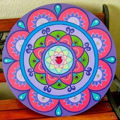 Mandalas Painting, Mandalas Drawing, Dot Painting, Painting On Wood, Mandala Dots, Mandala Design, Painted Rocks, Hand Painted, Mandala Art Lesson