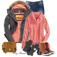 """""""Sorel boots and Superdry winter jacket"""" by shauna-rogers on Polyvore"""
