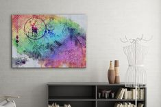 Tablou din aluminiu striat Magic Circle #interiordesign #homedecor #inspiration #paints #paintings Magic Circle, Watercolor Tattoo, Artwork, Design, Home Decor, Work Of Art, Decoration Home, Auguste Rodin Artwork, Room Decor