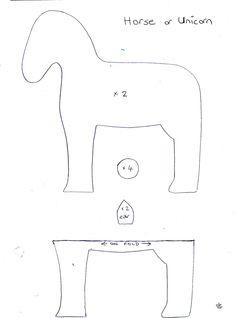 felt horse pattern