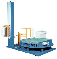 This Heavy Duty fully-automatic pallet wrapping equipment is designed with numerous advantages such as flexibility, reliability and performance, look to our stretch wrapper for this with the rotary turntable fully automatic stretch wrapping machines. Load accumulation conveyor eliminates double handling, speeding through put and reduces product damage. Capacity 30 loads per hour.