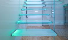 Stairs - Hanging Glass - TinTab - Contemporary, bespoke, design & manufacturing in Newhaven, East Sussex