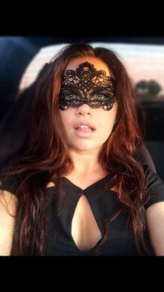 Black, lace mask, masquerade