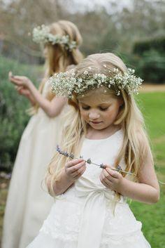 Pretty Baby's Breath Flower Crown - Photography by Liz Arcus