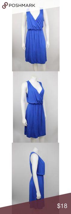 "NWT Old Navy Blue Knit Elastic Waist Blouson Dress NWT Old Navy Blue Rayon Knit Elastic Waist Sleeveless Blouson Dress.   Measurements (flat / un-stretched): Tagged Size: M Bust: 40"" Length (shoulder to hem): 40"" Old Navy Dresses"