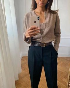 casual outfits for women * casual outfits ; casual outfits for winter ; casual outfits for women ; casual outfits for work ; casual outfits for school ; Spring Outfit Women, Spring Outfits, Winter Outfits, Looks Chic, Looks Style, Mode Outfits, Office Outfits, Office Wear, Office Outfit Summer
