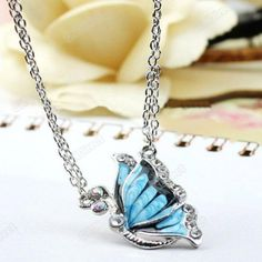 'Beautiful Butterfly Necklace' is going up for auction at  5pm Fri, Mar 1 with a starting bid of $5.