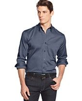 Club Room Big and Tall Solid Oxford Performance Long Sleeve Shirt