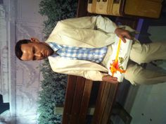 "Forrest Gump @Madame Tussades LA  ""Life was like a box of chocolate. You never know what you're gonna to get."""