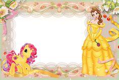 Girls Transparent Frame with Princess