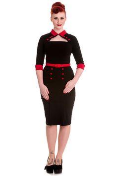 Hell Bunny Clara Pinup Vintage Pencil Dress Kleid Blk Rockabilly | eBay