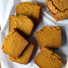 Gluten-Free Pumpkin Bread    This gluten-free pumpkin bread has a wonderfully crunchy top and deliciously spiced and moist crumb. It's perfect with coffee during the autumn months.