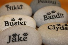 Custom Engraved 2 Inch 50 cm Etched Stone Lite Flat by Studio569