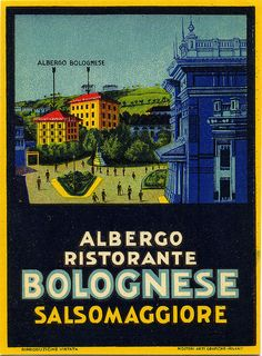 Vintage Italian Posters ~ #illustrator #Italian #posters ~ albergo ristorante