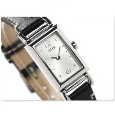 Good for office working hour --> Coach Womens Watch Signature BLACK Leather MADISON Stainless /Box 14501592 #Coach #LuxuryDressStyles $168.77