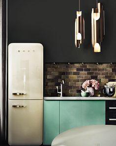 Amazing Kitchen Project with Galliano Modern Pendant Lamp | www.bocadolobo.com/ #partnerbrands #luxuryfurniture