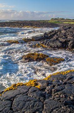 Rocky coast line, Big Island, Hawaii