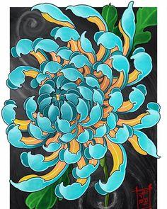 Tattoo Background, Alien Tattoo, Plant Tattoo, Irezumi, Mini Tattoos, Flowering Trees, Chrysanthemum, Traditional Tattoo, Trees To Plant