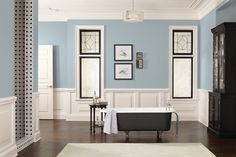 Formal Bath finished in SW-7613, Aqua-Sphere, This Old House