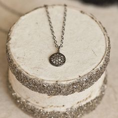 pave diamond silver pendant by between you & i | notonthehighstreet.com