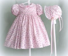 Infant Girl Baby Girl Classic Dress and Bonnet 3 by BebeClassique, $70.00
