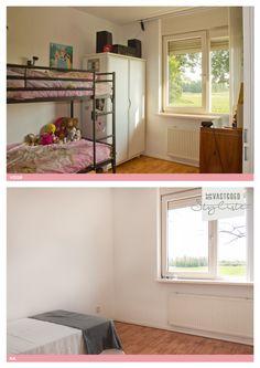 Slaapkamer voor en na verkoopstyling door De Vastgoedstyliste.   www.devastgoedstyliste.nl