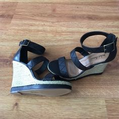 💥FLASH SALE💥 Awesome Wedges!! Gorgeously awesome wedges! Perfect for summer!! Heel is 5 inches and wedge is 1.25 inches!! Brand new! Still in box! Never worn! Michael Antonio Shoes Wedges