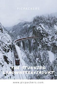 All you need to know about Landwasserviadukt in Switzerland. Swiss Rail, Public Transport, Winter Wonderland, Switzerland, Paths, Skiing, Posters, Blog, Outdoor