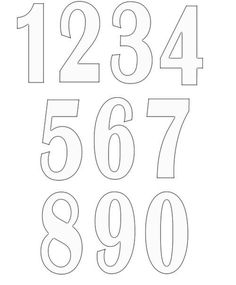number templates to print free