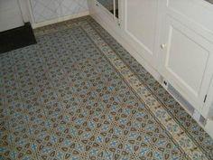Toegepaste oude vloertegels - Het Oude Huis