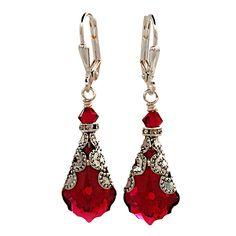 A personal favorite from my Etsy shop https://www.etsy.com/listing/166058936/swarovski-earrings-vintage-earrings-ruby