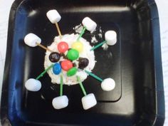 Edible Atoms: Teach children about elements by having them create atoms that they can eat. Use different types of candy to represent protons, neutrons and electrons. Accompanied by a periodic table, children can build any element they want.