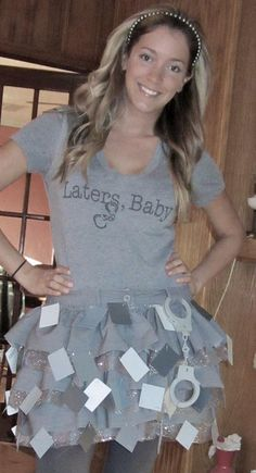 DIY Tutorial: DIY Women Halloween Costumes / DIY Halloween: 50 Shades of Grey Costume - Bead&Cord