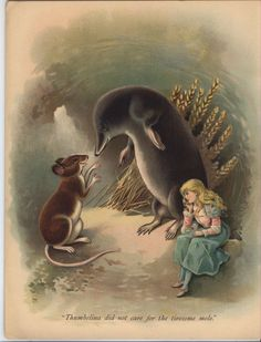 """antique book """"THUMBELINA"""", from Raphael Tuck & Sons Ltd."""