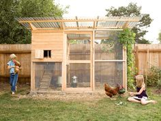 chicken coop ideas | 360° barrier against rodents and predators Simple cuts and assembly ...