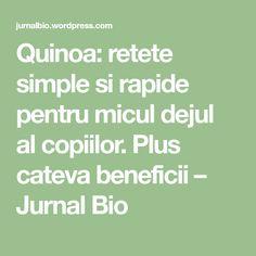 Quinoa: retete simple si rapide pentru micul dejul al copiilor. Plus cateva beneficii – Jurnal Bio