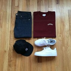 Outfit grid - Casual look Casual Wear, Casual Outfits, Men Casual, Fashion Outfits, Mens Fashion, Nike Fashion, Outfit Grid, My Outfit, Outfit Ideas