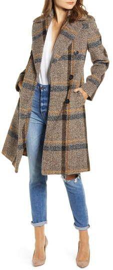 Kylie Womens Oversize Collar Wool Coat Kendall