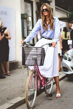 Chic on a bicycle