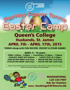 PeeWee Power Tennis Easter Camp